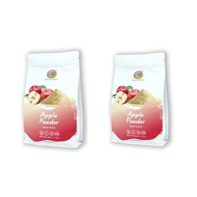 SAIPRO Apple Powder 400 gm, for Baby Food, Juice, Cake, Skin, No Artificial Color No preservatives (2 Packs*200 g)=400 gm