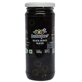 Luxeapers Black Sliced Olives, 440g Net Weight&230g Drained Weight