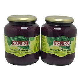 Noliko Red Cabbage with Apple in Pieces 715gm , (Pack of 2 Bottles X 715gm Each)