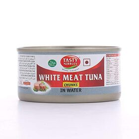 Tasty Nibbles White Meat Tuna Chunks in Water, 185 g X 2
