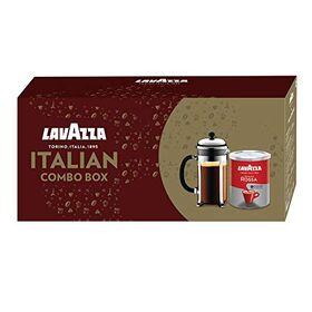 Lavazza Italian Combo Box, 250 g with Qualita Rossa and French Press 350ml