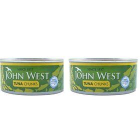 John West Tuna Chunks in Sunflower Oil (160 gm Each Pack of 2)