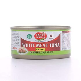 Tasty Nibbles White Meat Tuna Chunks in Water, Salt Added, 185 g X 2