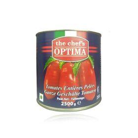 The Chef's Optima Whole Peeled Organic Tomatoes, 2500 g