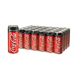 Coca-Cola Chefs Need No Sugar Soft Drink (330 ml) -Pack of 24 Cans