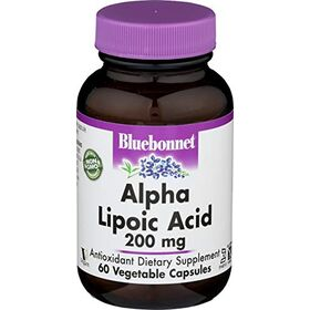 Bluebonnet Nutrition - Alpha Lipoic Acid 200 Mg. 60 Vegetarian Capsules