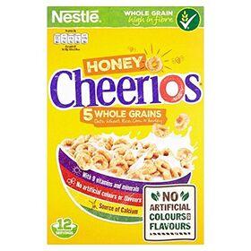 Nestle Honey Cheerios 5 Whole Grain Cereal, 375g
