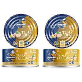 Indofish Tuna Chunks in Soyabean Oil, 2 x 160 g