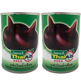 Thai Water Chestnut in Syrup, 2 x 565 g