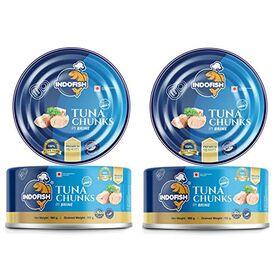 Indofish Tuna Chunks in Brine, 2 x 160 g