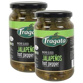 Fragata Nacho Sliced Jalapeños, for Nachos, Pizzas, Salads and Sandwiches Bottle, 2 x 350 g