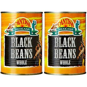 Cantina Mexicana Black Beans Whole, 2 x 400 g