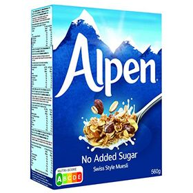Alpen Cereal No Added Sugar, 560g, Packaging May Vary