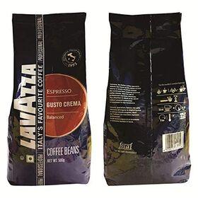 LAVAZZA Gusto Creama Roasted Coffee Beans 500g+ Tropical Blu House Blend Roasted Arabica Beans 500g