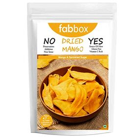 Fab box Healthy Delicious Dried Mango | High Protein, Fiber, Gluten Free, 150 Gm