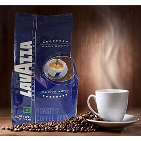 LAVAZZA Puro Gusto Roasted Coffee Beans 500g PP + Green Foods cornflakes 250gm