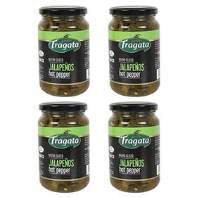 Fragata Nacho Sliced Jalapeños 350g (Ideal for Nachos, Pizzas, Salads and Sandwiches) Pack of 4