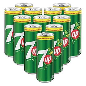 7UP Carbonated Lime & Lemon Flavoured Drink - 12 Pack, 12 x 320 ml
