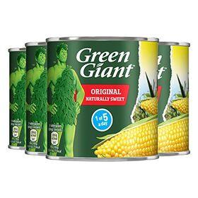 Green Giant Sweet Corn Kernels in Brine, 4 x 340 g