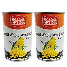 The Chef's Optima Sweet Whole Kernel Corn in Brine, 2 x 425 g