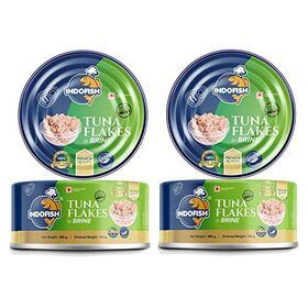 Indofish Tuna Flakes in Brine, 2 X 160 g