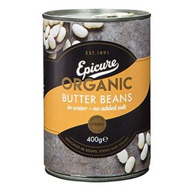 Epicure Butter Beans in Water, 400g
