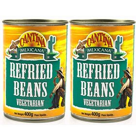Cantina Mexicana Refried Beans Original, 2 x 400 g