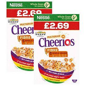Nestle Multigrain Cheerios Cereal, 2 x 375 g