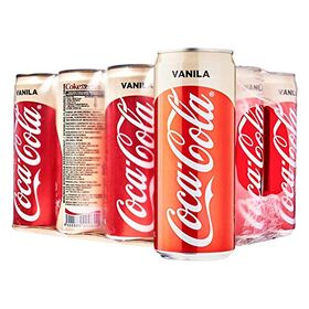 Cola ChefsNeed Coca-Cola Vanila Flavour 320ml (Pack of 24 Cans X 320ml)