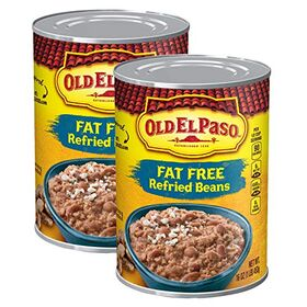 Old El Paso Fat Free Refried Beans, 2 x 453 g