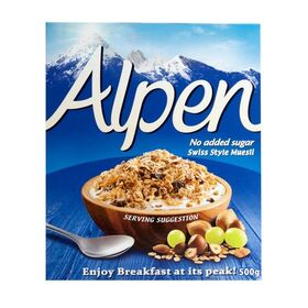 Alpen No Added Sugar Swiss Style Muesli 500g
