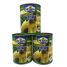 Hosen Japanese Quality Bamboo Shoot Cans 552gm Each , (Pack of 3 cans X 552gm)