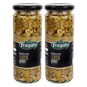 Fragata Olives Sliced Green 450g (Pack of 2)