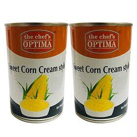 The Chef's Optima Sweet Corn Cream Style - 2 Pack, 2 x 435 g