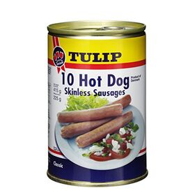 Tulip 10 Hot Dog Skinless Sausages, 415g