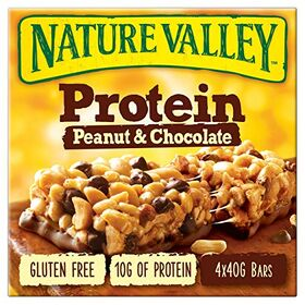 Nature Valley Protein Peanut & Chocolate Cereal Bar 4 X 40g, 160g