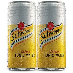 Coca-Cola Schweppes Tonic Water Can 300Ml (Pack Of 2)
