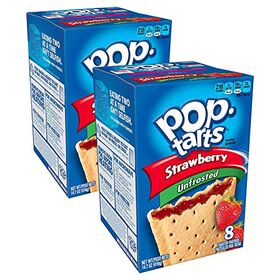 Pop Tarts Unfrosted Strawberry Pack of 2 Pouch, 2 x 416 g