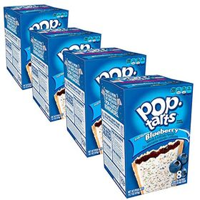 Pop Tarts Frosted Blueberry Pack of 4 Pouch, 4 x 416 g