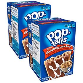Pop Tarts Frosted Chocolate Chip Cookie Dough Pack of 2 Pouch, 2 x 400 g