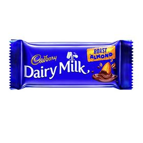 Cadbury Dairy Milk Roast Almond Chocolate Bar, 36 gm (Pack of 12)