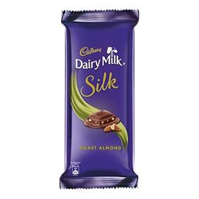 Cadbury Dairy Milk Silk Chocolate Bar, Roast Almond, 137g