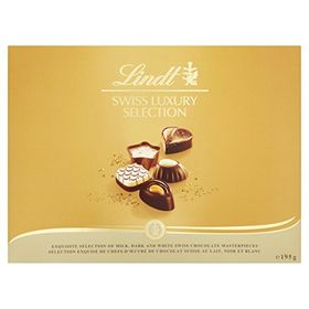 Lindt Swiss Luxury Finest Selection of Dark, Milk and White Chocolate Pralines (195g)