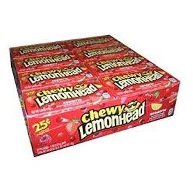 Lemonheads Chewy Redrific Candy, 0.80 Oz - 24 Count