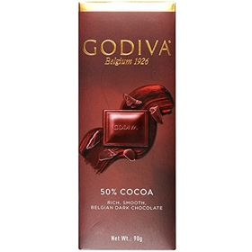 Godiva 50% Cocoa, Rich & Smooth Dark Belgian Chocolate, 90g, Free ChoocKick Eco Friendly Pen