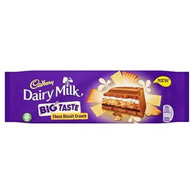 Cadbury Dairy Milk Choco Biscuit Crunch Chocolate Bar 300g
