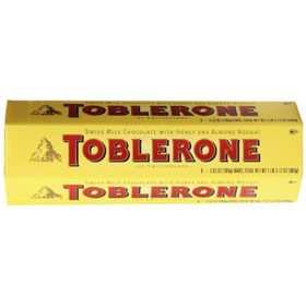 Toblerone Chocolates 6X100 Grms Swiss Milk Chocolate With Honey & Almond Nougat