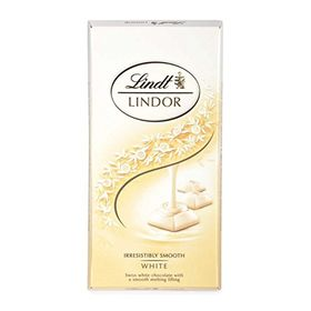 Lindt Lindor Irresistibly Smooth White Chocolate, 100g (Pack of 2)