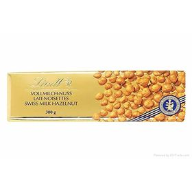 Lindt Swiss Premium Gold Milk Chocolate Hazelnut Bar, 300g