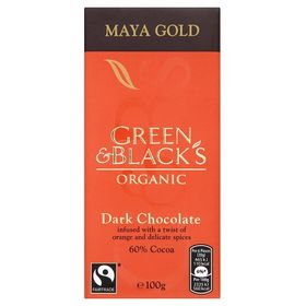 Green & Blacks Organic Maya Gold Dark Chocolate 60%Cocoa, 100g